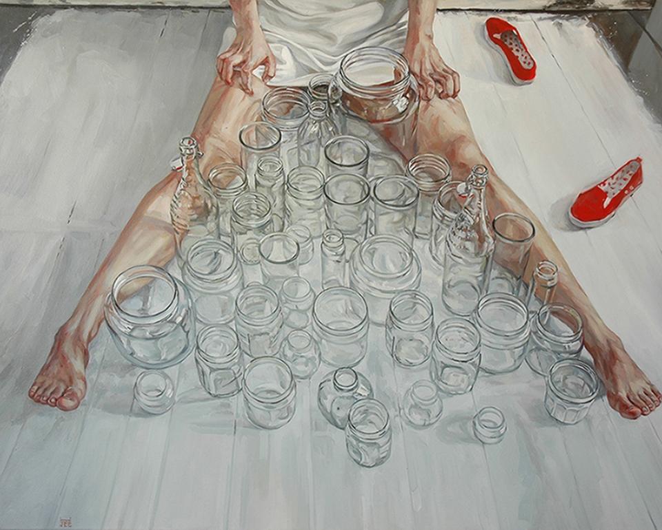 Jee Hwang_1_Residue of Memories_48x60_Oil on  Canvas_2008