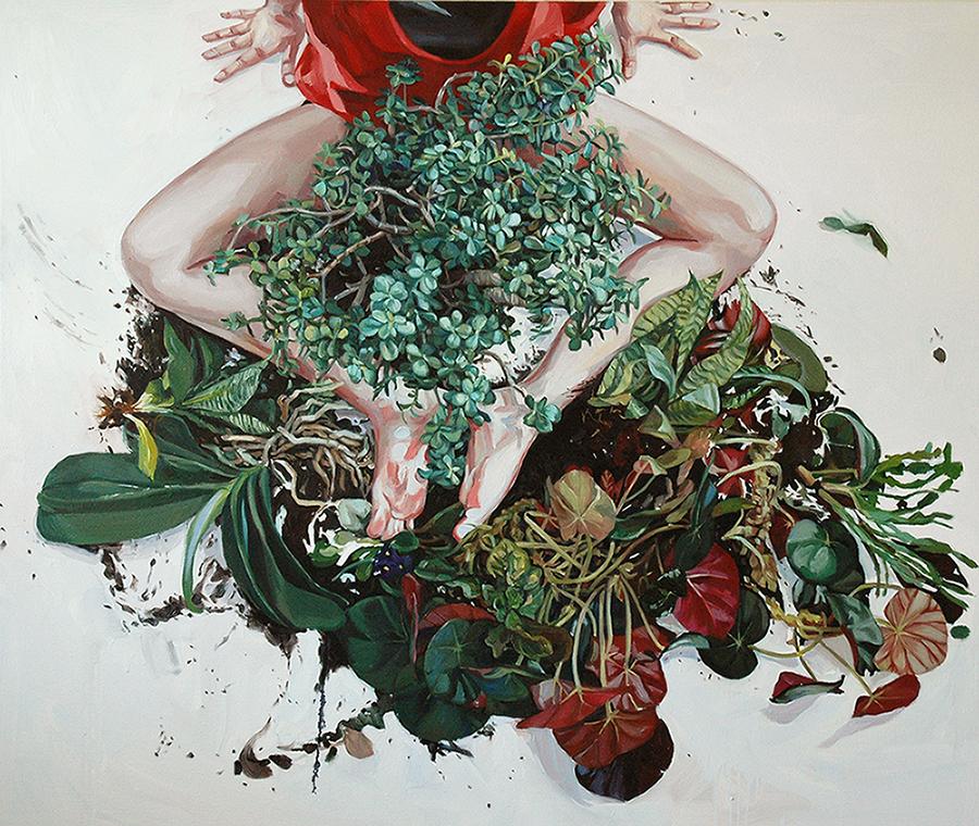 Jee Hwang_5_Island_44x53_Oil on Canvas_2014